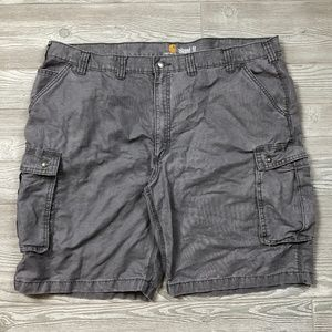 Carhartt Relaxed Fit Gray Cargo Shorts Mens 46 U20